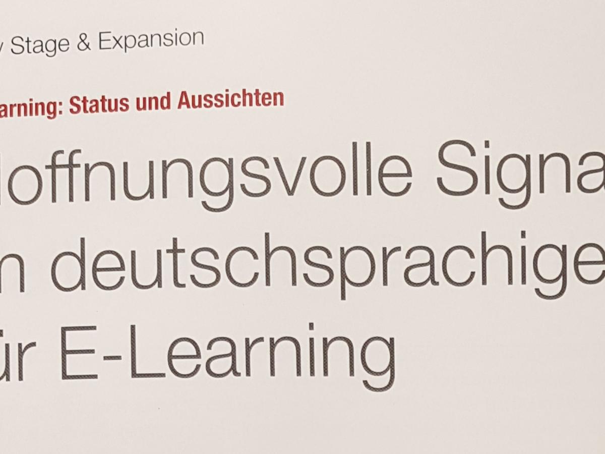 Venture Capital Magazin über positive Signale im deutschsprachigen Markt für e-learning...